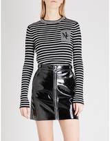 Mo&co. Striped Wool-blend Jumper
