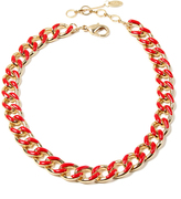 Amrita Singh Red & Goldtone Chain Link Necklace
