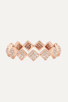 Ofira Tattoo 18-karat Rose Gold Diamond Ring