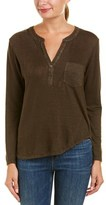 Velvet by Graham & Spencer Elvira Linen-blend Top.
