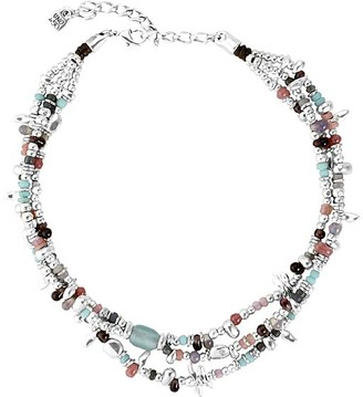 Uno de 50 UNOde50 Women's Necklaces - Blue Crystal & Silver-Plated Love Bubble Layered Choker Necklace