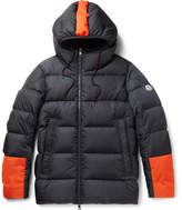 Moncler Drake Quilted Shell Hooded Down Jacket - Navy