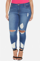 Fashion to Figure Blow Out Knee Distressed Jeans