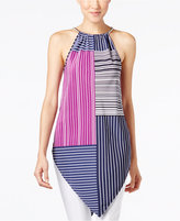 Alfani Printed V-Hem Halter Tunic, Only at Macy's
