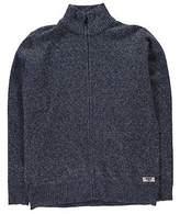 D555 Mens Harmison Full Zip Cardigan Sweater Jumper Top Pullover High Neck