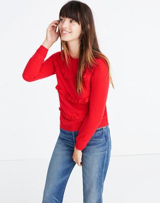 Madewell Sezane Andreas Ruffled Sweater