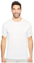 Hanro Cotton Sporty Short Sleeve Shirt (White) Men's T Shirt