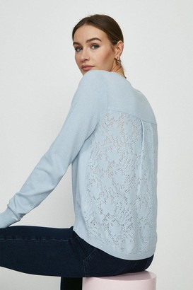 Coast Lace Back Knitted Tunic Jumper