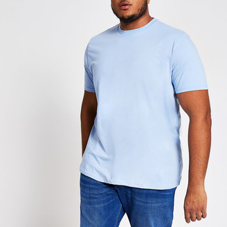 River Island Big and Tall blue regular fit T-shirt