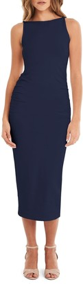 Michael Stars Ruched Bodycon Midi Dress