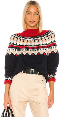 Autumn Cashmere Fair Isle Mock Sweater