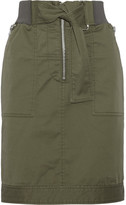 3.1 Phillip Lim Cotton-blend Twill Skirt - Army green