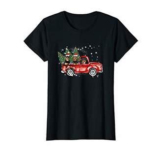 Womens Rottweiler Red Truck Family Matching Christmas Pajamas Gift T-Shirt