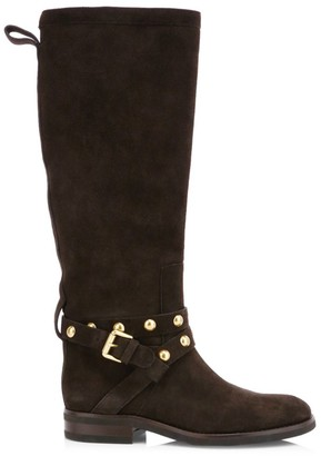 See by Chloe Janis Studded Tall Suede Boots