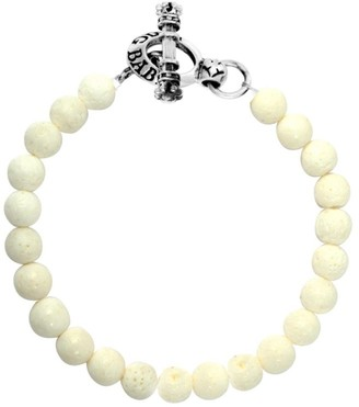King Baby Studio Coral Sterling Silver Beaded Toggle Bracelet