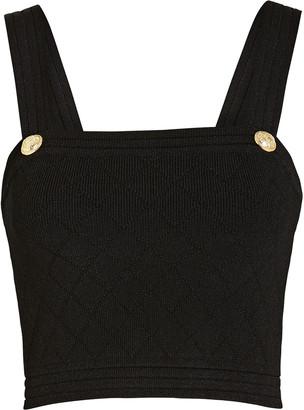Balmain Diamond Knit Crop Top