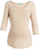 Taupe Sheer Hi-Low Maternity Sweater