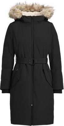 Ralph Lauren Belted Hooded Down Coat