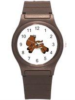 """Kidozooo Boys Girls Cartoon Antelope Wild Animal 1 3/8"""" Diameter Plastic Watch"""