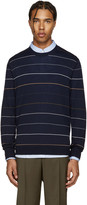 Paul Smith Navy Wool Striped Pullover