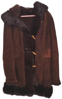 Gucci Brown Fur Coat for Women Vintage