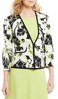 Kasper Abstract Floral Crepe Jacket