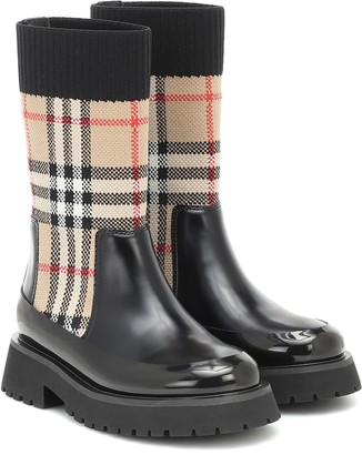 BURBERRY KIDS Vintage Check Chelsea boots
