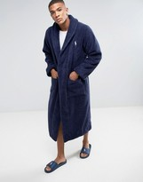 Polo Ralph Lauren Dressing Gown Robe In Navy