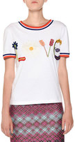 Missoni Crewneck Embroidered Love Short-Sleeve Cotton T-Shirt