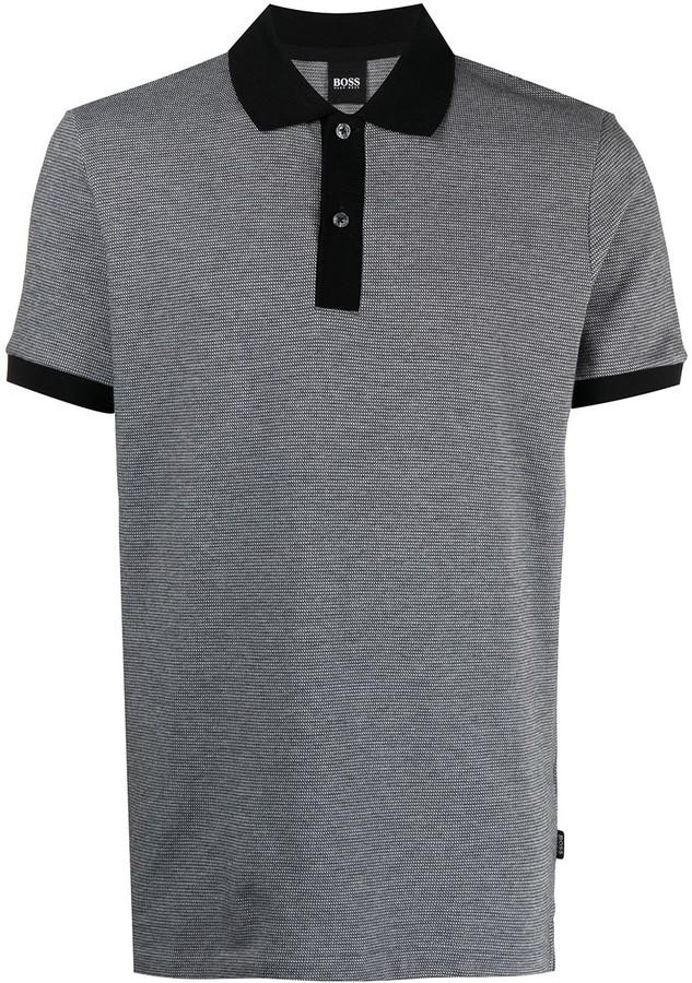 HUGO BOSS Melange Polo Shirt