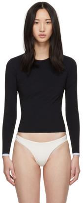 WARD WHILLAS Black Marlen Rash Guard Bikini Top