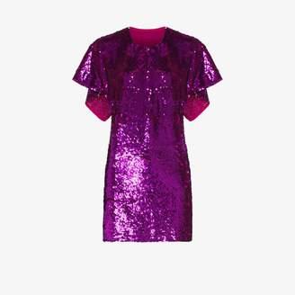 Ashish cape sleeve sequin mini dress