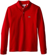 Lacoste Kids - Classic Pique Polo Boy's Long Sleeve Pullover