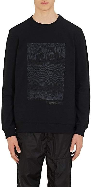 Givenchy Men's Sequin-Embellished Cotton Sweatshirt