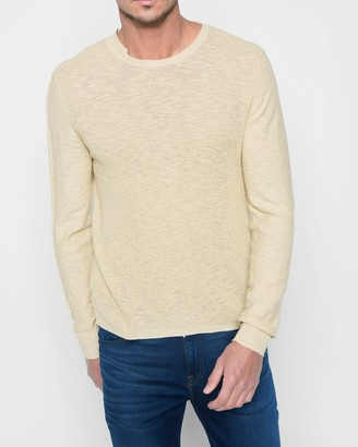 7 For All Mankind Start and Stop Sweater in Ecru
