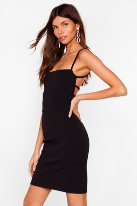Nasty Gal Womens Come Back Strappy Mini Dress - Black