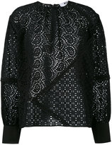 MSGM broderie anglaise blouse - women - Cotton - 40