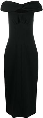 Emilia Wickstead Off-Shoulder Fitted Dress