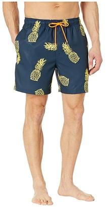 Southern Tide Pineapple Swim Trunks (True Navy) Men's Swimwear