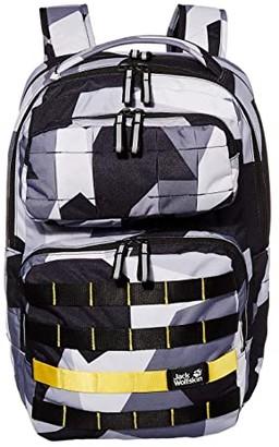 Jack Wolfskin Kids TRT School Pack (Big Kids) (Grey Geo Block) Backpack Bags
