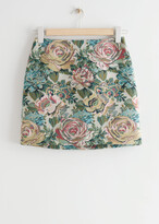 Thumbnail for your product : And other stories Floral Jacquard Mini Skirt