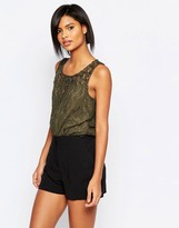 Vila Lace Sleeveless Top
