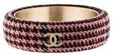 Chanel CC Tweed Bangle Bracelet