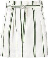3.1 Phillip Lim stripe pleated mini skirt - women - Cotton/Linen/Flax - 2