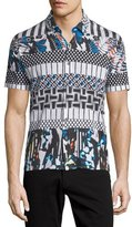 Robert Graham Lone Pine Multi-Print Short-Sleeve Shirt, Multicolor