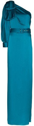 Peter Pilotto belted one-shoulder gown