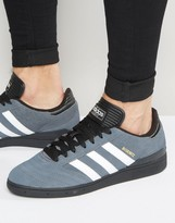 Adidas Originals Busenitz Trainers In Grey F37871
