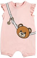 Moschino Teddy Bag Printed Cotton Jersey Romper