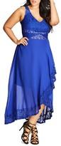 City Chic Plus Size Women's Seduction Lace & Chiffon Maxi Dress