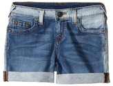 True Religion Audrey Boyfriend Shorts in Side Car Blue Girl's Shorts